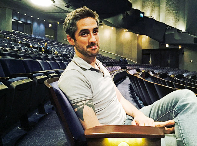 'Wicked' Musical Director Bryan Perri at the Gershwin Theatre (Photo: Mary-Louise Price Foss)