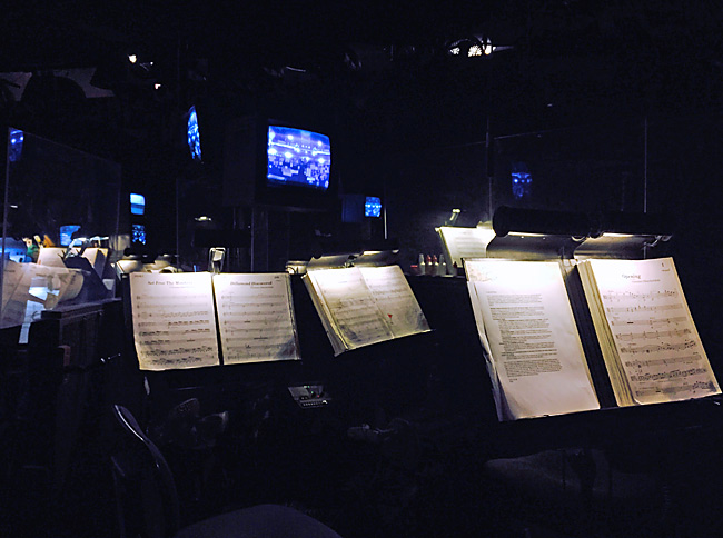 Seating in the 'Wicked' orchestra pit (Photo: Mary-Louise Price Foss)